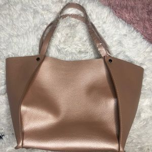 NWOT neiman marcus rose gold tote